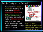 is life designed or evolved49