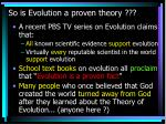 so is evolution a proven theory