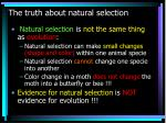 the truth about natural selection