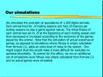 our simulations9