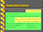 steady state solution