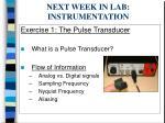 next week in lab instrumentation25