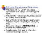 arithmetic operators and expressions31