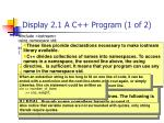 display 2 1 a c program 1 of 2