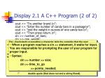 display 2 1 a c program 2 of 2