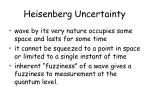 heisenberg uncertainty