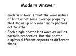 modern answer