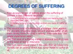 degrees of suffering