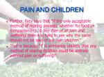 pain and children