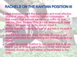 rachels on the kantian position iii