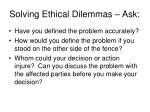 solving ethical dilemmas ask