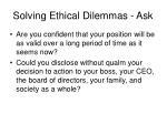 solving ethical dilemmas ask9