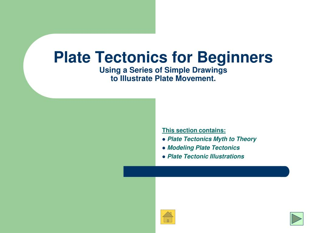 plate tectonics for beginners using a series of simple drawings to illustrate plate movement l.