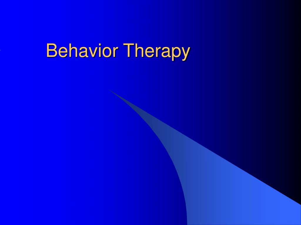 behavior therapy l.