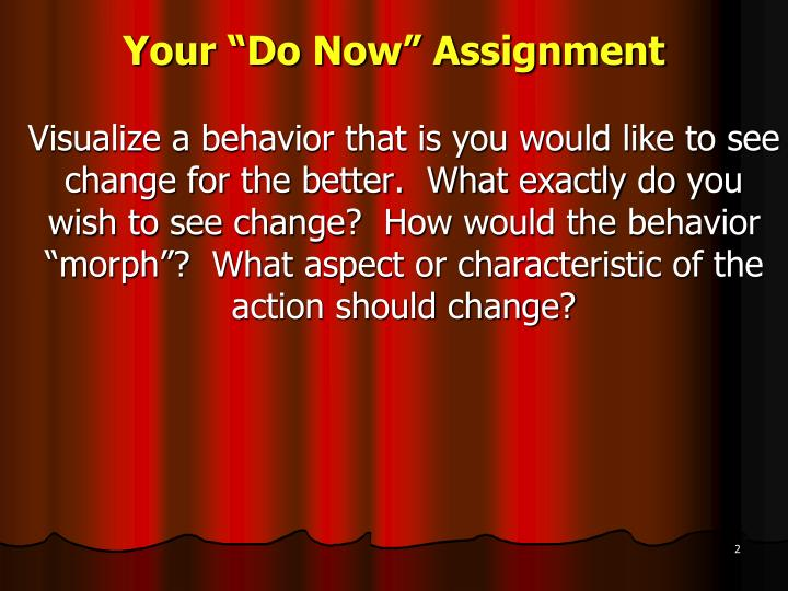 Your do now assignment