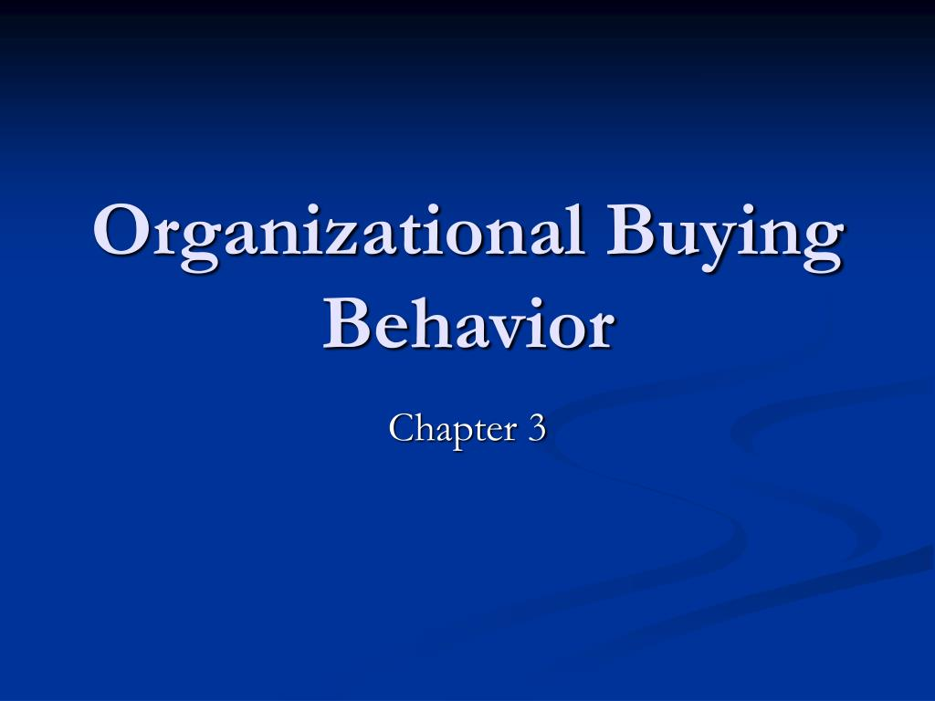 organizational buying behavior l.