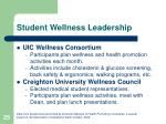 student wellness leadership