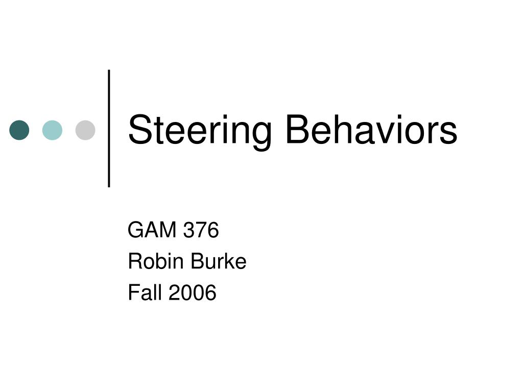 steering behaviors l.