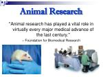 animal research27