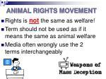 animal rights movement