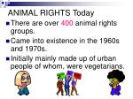 animal rights today