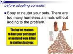 before adopting consider43