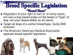 breed specific legislation breed bans