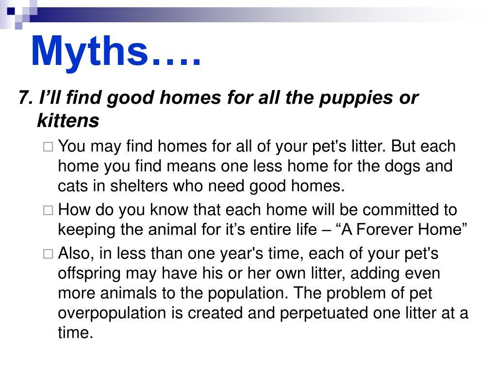 Myths….