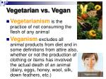 vegetarian vs vegan