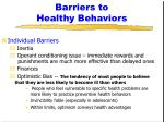 barriers to healthy behaviors