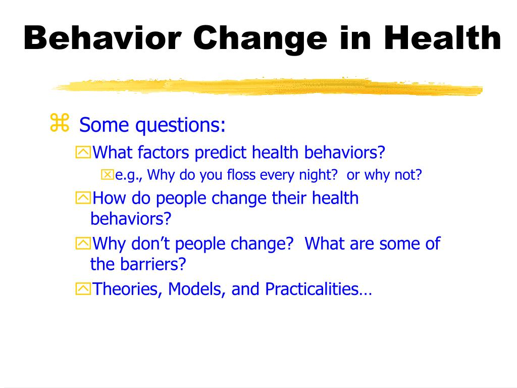 behavior change in health l.