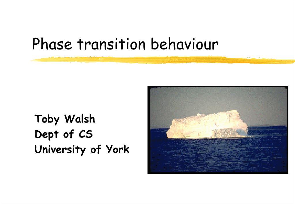 phase transition behaviour l.