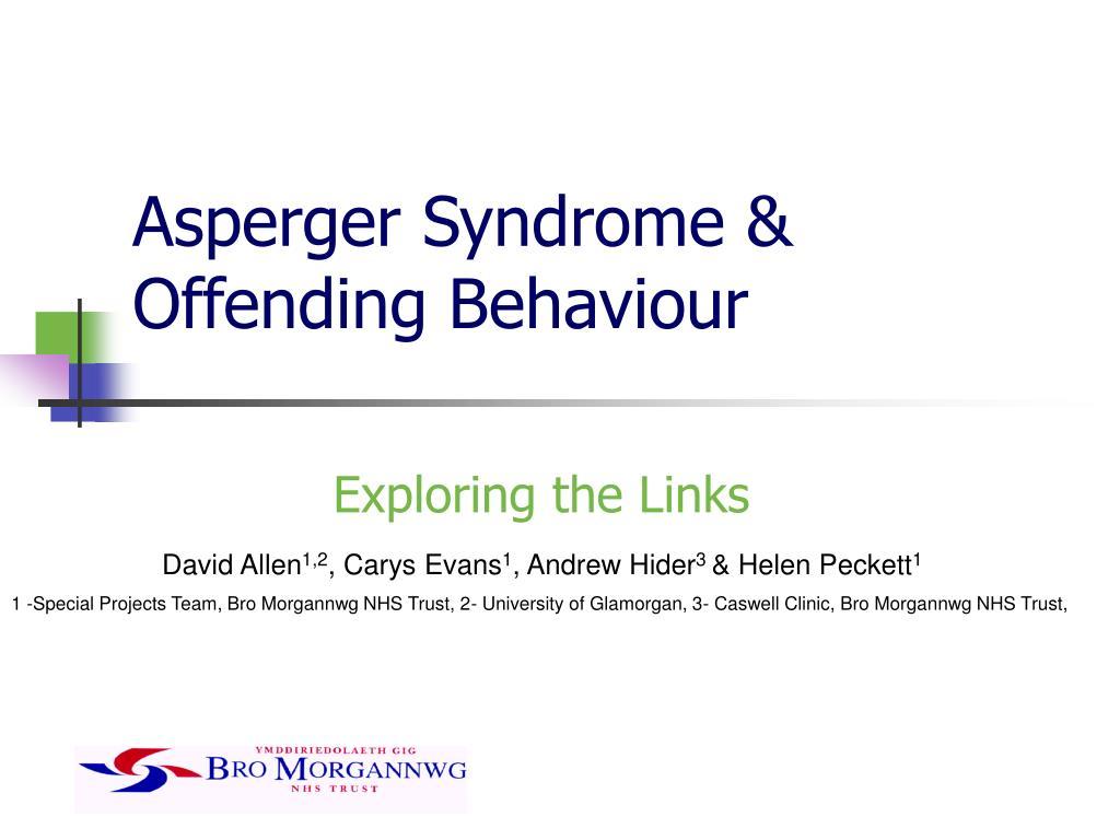 asperger syndrome offending behaviour l.