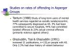 studies on rates of offending in asperger groups