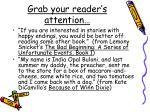 grab your reader s attention