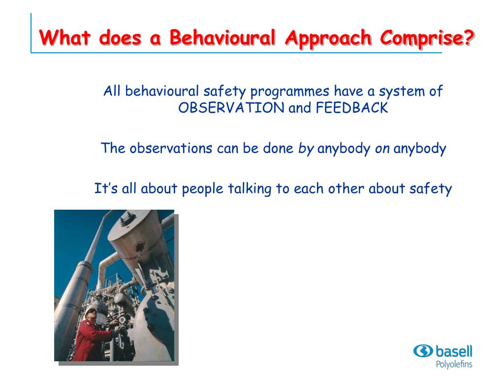 What does a Behavioural Approach Comprise?