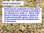 sand continued