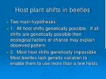host plant shifts in beetles66