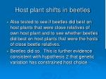host plant shifts in beetles69