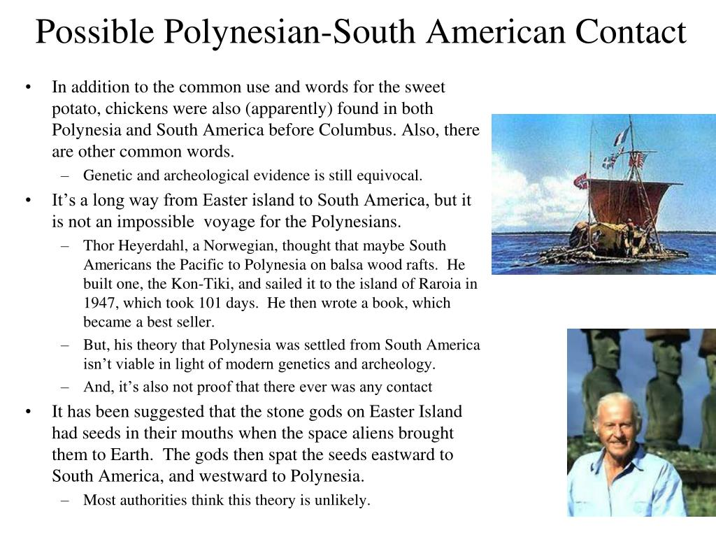 Possible Polynesian-South American Contact