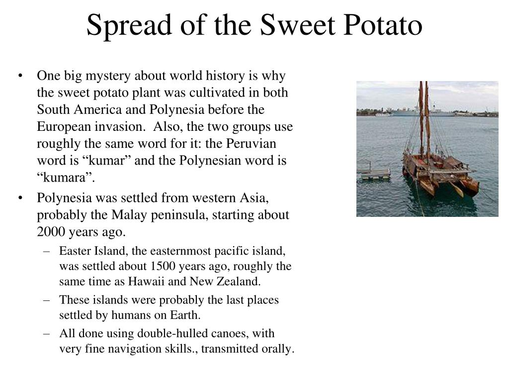 Spread of the Sweet Potato