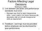 factors affecting legal decisions mcshane 198911