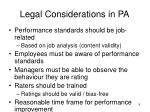 legal considerations in pa