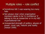 multiple roles role conflict