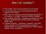 was i an outsider