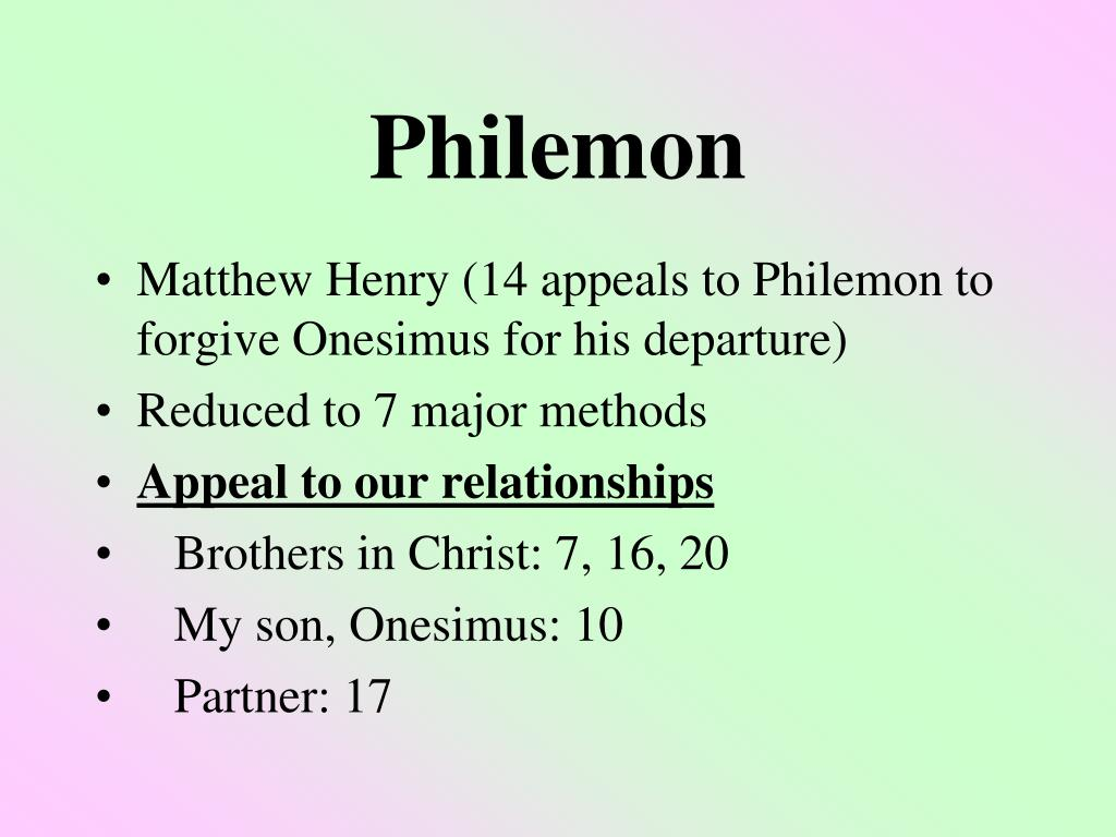 philemon l.