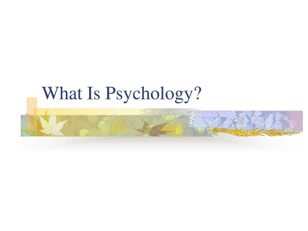 what is psychology l.