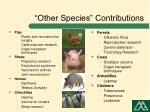 other species contributions