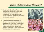 value of biomedical research