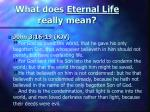 what does eternal life really mean